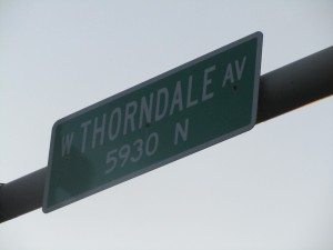 Thorndale Avenue street sign. Credit: Jeremy Bressman