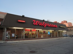 "The old Walgreens which stood at 6125 N Broadway was once also a Dominick's nicknamed ""Little Dominicks."" Credit: Lyle Bright"