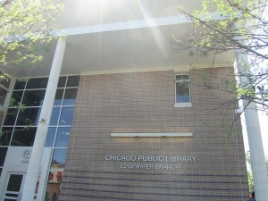 Front of the new Edgewater branch of Chicago Public Library.  Credit: Jeremy Bressman