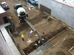 Foundation poured. Credit: Andersonville GuestHouse / Facebook