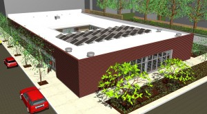 Rendering of new Heartland Health Center on Devon.  Credit: Heartland Health Centers