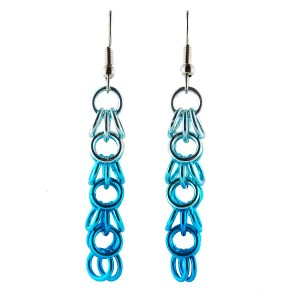 Shaggy loop earrings with anodized aluminum fades. Credit: Blue Buddah Boutique.