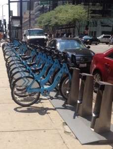 A Divvy station downtown. Credit: Jeremy Bressman