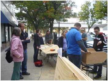 Little Free Libraries Community Build takes place on Sunday, Oct. 19. Credit: Seamus Fitzgerald, founder of The Overhead Project