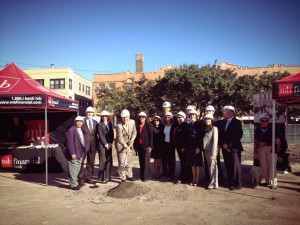 Alderman Osterman and MB reps at a ground breaking ceremony in September. Credit: 48th Ward Office