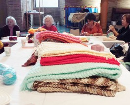 Emanuel Congregation Stitching Ladies Knit Thousands of Cold Weather Accessories For Those In Need