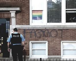 Anti-Gay Hate Graffiti Sprayed On Front Of Area Home