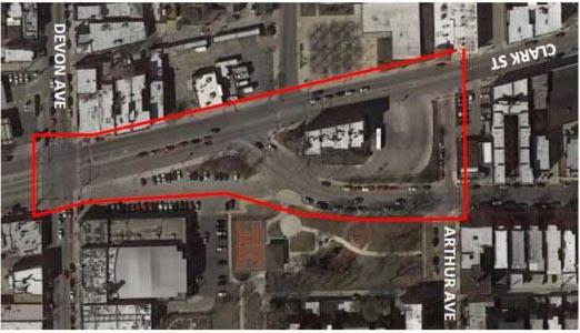 Major Streetscape Redesign To Transform The Clark and Devon Area