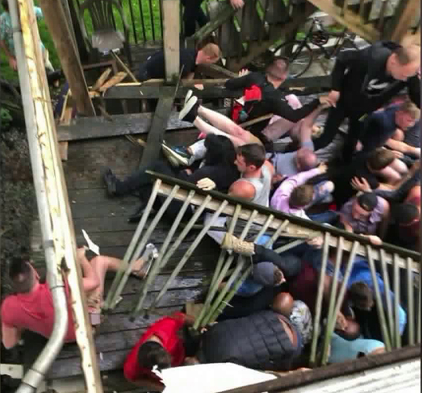 Midsommarfest House Party Porch Collapse Injures Three