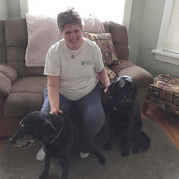 Edgewater's Blind Residents And Their Guide Dogs Face Daily Challenges